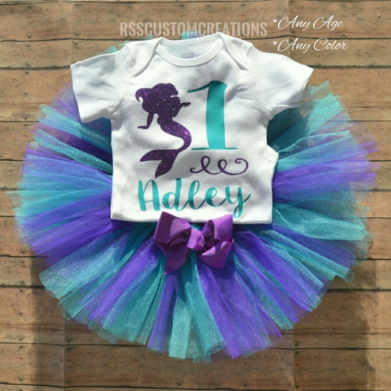 Birthday Outfit For Mom: Mermaid Birthday Outfit Mermaid Birthday By RSSCustomCreations