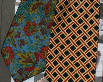 London luxury - John Comfort pure silk tie, made in England, 2  designs available