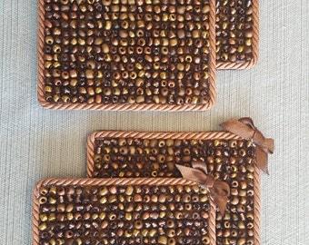 Glass Bead Coasters (set of 4)