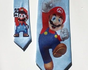 Mario Brothers Mario Light Blue Necktie