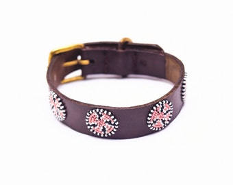 Jafari Beaded dog collar
