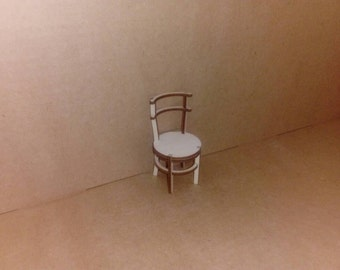 1:12 Unfinished dollhouse chair ready to paint and decorate