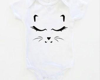 Kitten Short Sleeve Onesie