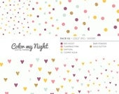 80% OFF SALE Digital Paper 'Pack02' Colorful Confetti Patterns for Scrapbook, Baby Showers, Party Invitations, Crafts...