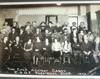 1922 Odd Fellows Photo Theatrical Club Dressed in Costume