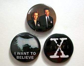 X Flies Pin Button Badges