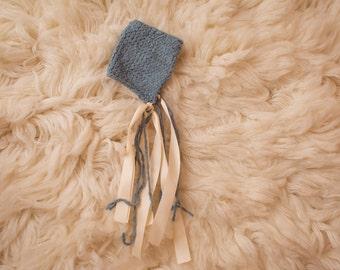 Knit Blue Bonnet