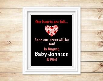 Full Hearts Pregnancy Announcement