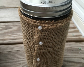 Decorated Ball Jar- Large
