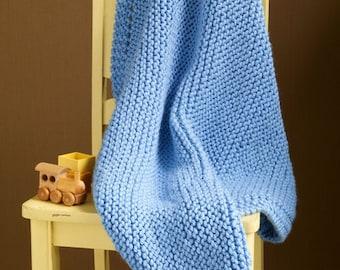Still River Baby Blanket, Blue, Pattern, Beginner, Easy