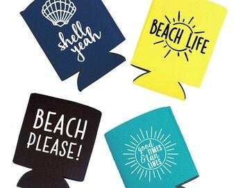 Beach Can Cooler - Set of 4