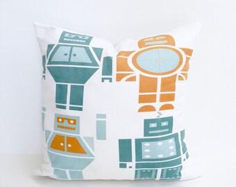 Nursery Pillow | Robot | Robot Pillow | Robot Decor | Nursery Decor | Boys Room