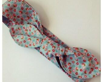 STRAWBERRIES Bow Headband, sz 6-9months