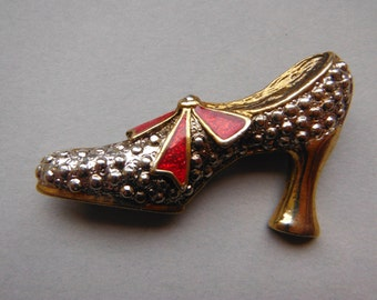 Vintage 1980s Shoe Brooch