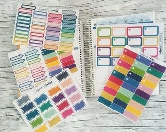 BIG BUNDLE Nº1-  136 Stickers for ec,ppp,planner,journal