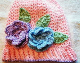 Handmade crochet girl's cloche