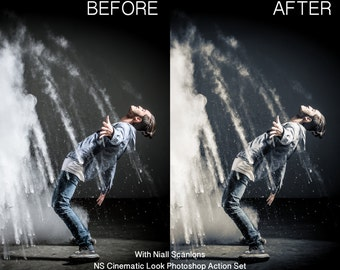 The 'NS Cinematic Look' Photoshop Action Set