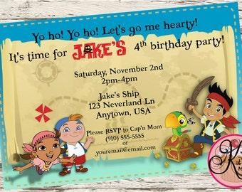 Jake and the Neverland Pirates Printable Invitations