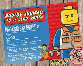 Lego Printable Invitations