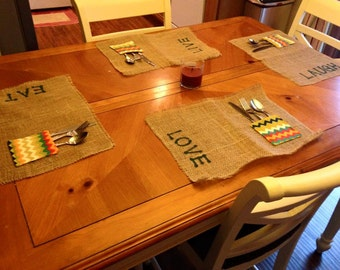 Burlap Placemat - Set of 4