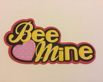 Bee Mine Scrapbook Embellishment Set of 2