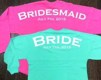 Custom Billboard Spirit Jersey for Bride, Bridesmaids, Bridal Party, Wedding Party, or Bachelorette Party