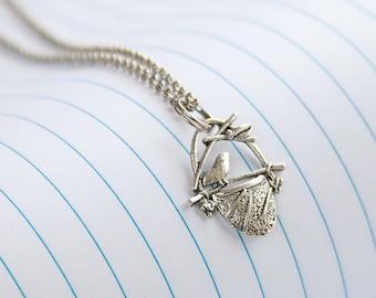 Chic Sparrow Necklace, Sparrow Necklace, Sparrow Jewelry, Sparrow Charm,Anniversary Gift,Cheap Jewelry,Cheap Gift,Bird Necklace,Bird Jewelry