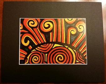 Sun Spiral Print