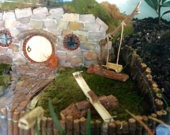 Swing Seesaw Playground Set Fairy Garden Miniature Terrarium Diorama
