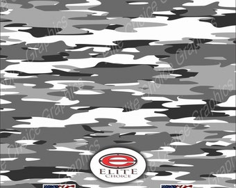 """Snow  52""""x6ft Wrap Vinyl Truck Camo Car SUV Tree Real Camouflage Sticker Decal"""