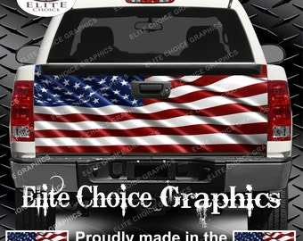 American Flag Truck Tailgate Wrap Vinyl Graphic Decal Sticker Wrap