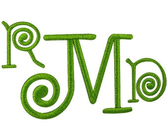 Spiral Embroidery Font