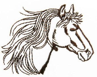 Horse Western Embroidery Design