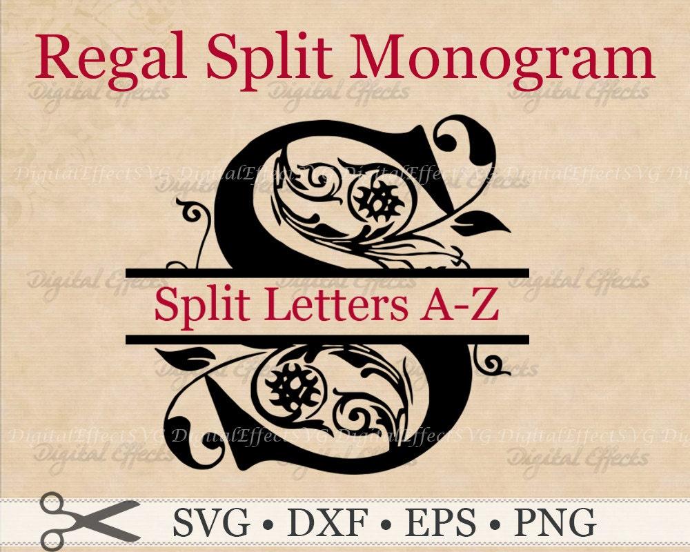 REGAL SPLIT MONOGRAM Svg Dxf Eps & Png Files Regal Split