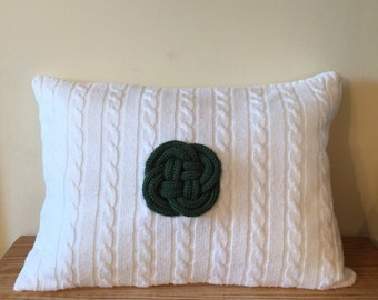 Irish Celtic Knot Sweater Pillow