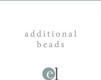Additional Add on Beads for Birthstone Necklace