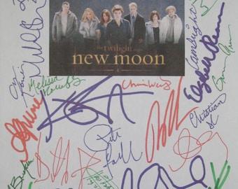 New Moon Signed Movie Film Screenplay Script X32 Twilight Kristen Stewart Robert Pattinson Taylor Lautner Ashley Greene Dakota Fanning