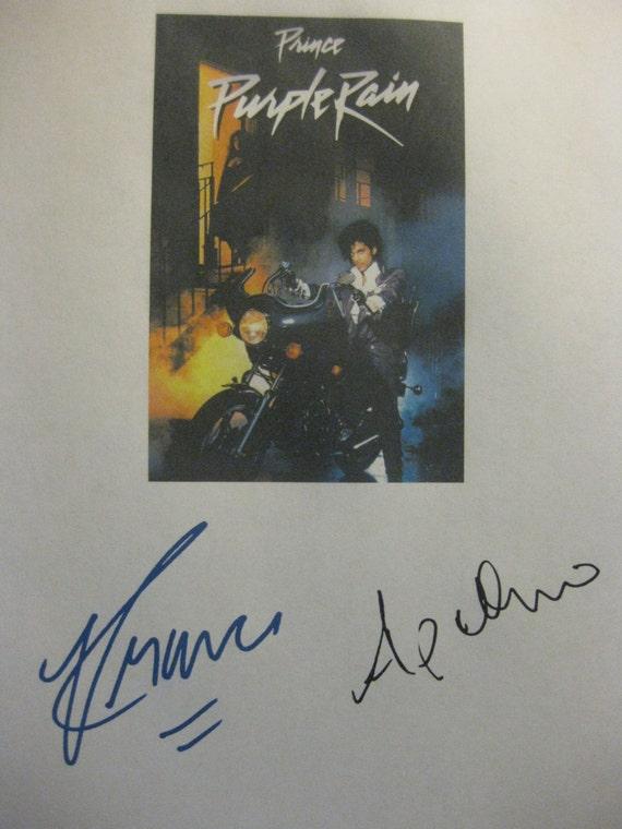 Purple Rain Signed Movie Film Script Screenplay X2 Prince Apollonia Kotero autograph signatures musical film reprint musician classic