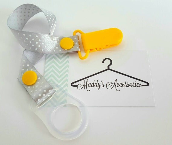 MAM adapter for soother saver - use for button style soother - ribbon pacifier clip - baby accessories