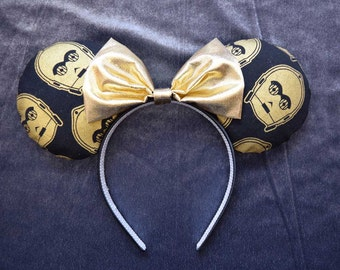 C-3PO C3PO Star Wars Droid Mickey Minnie Mouse Ears Head Band Headband