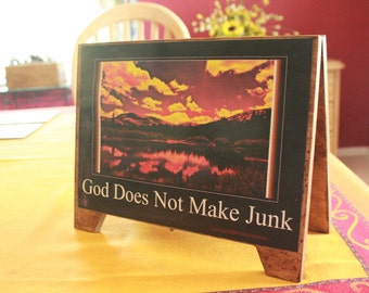 Recovery Photo Creations on Wood Stand