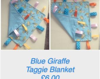 Baby boy Taggie Blanket