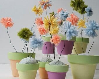 Pom Pom Flower Pots