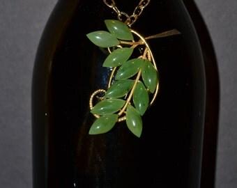 Wine bottle decoration, jade  (#B26)