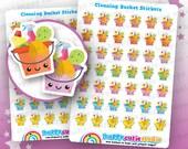 42 Cute Cleaning Bucket/Supplies/Chores Planner Stickers, Filofax, Erin Condren, Happy Planner,  Kawaii, Cute Sticker, UK
