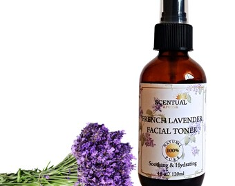 Organic Facial Toner, Organic Lavender Face Mist, Lavender Water Mist, Organic Facial Mist, Gifts for Her, Gifts for Mom, Birthday Gift