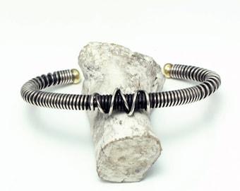 Coil Knot Bangle (coilknotbangle) size M Sterling Silver (SV925) handmade
