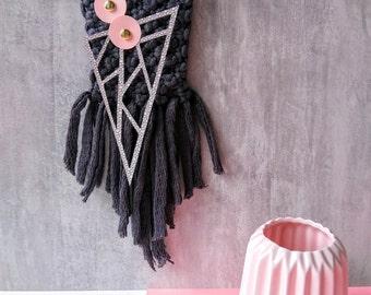 Decoration-Macrame weaving modern-paper-Home decor-Handmade