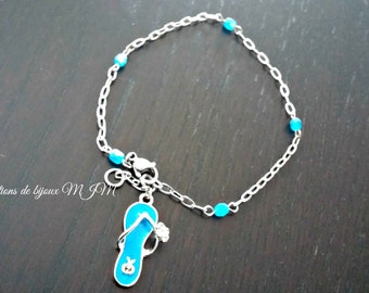 Ankle bracelet, sandal, susanta_pal82, blue tong