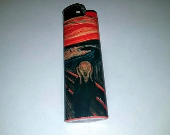 The Scream by Edvard Munch Custom Lighter
